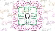 Следующий ряд вяжем по этой схеме: по 12 ССН в каждую арку.