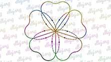 Схема маршрута обвязки внутренней части цветка.
