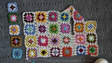 Tunics for girls from granny squares