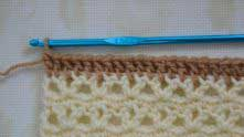 Рапорт для каймы - 4. Первый ряд - столбики с 1 накидом.