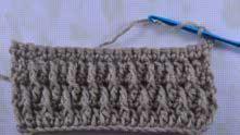 Связали ряд СБН, вяжем узор, повторяя с 3-го ряда.