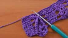 Дальше повернуть вязание (рекомендую по часовой стрелке поворачивать) на 90º.