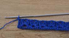 В вершинку столбика предыдущего ряда связать 1 СБН.