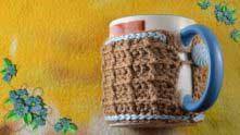 Вафельный шарфик для чашки готов!