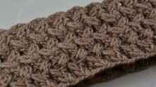 Объемный плетеный узор для снуда