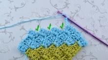Энтрелак - вязание по диагонали