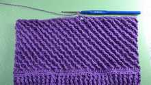 You can make 5-6 rows more so as not to enlarge a stripe.