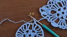 Вяжем третий ряд мотива так же, как на первом мотиве. Начинать с 4 С2Н в следующий промежуток.