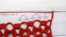 Дальше повторяем вязать 3, 4, 5 и 6 ряды на необходимую длину шарфа.