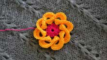 Crochet Flower is completed!
