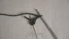 3 в.п. подъема. В кольцо связать 2 столбика с накидом (ССН).