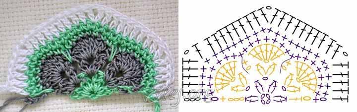 Африканский цветок схема половины