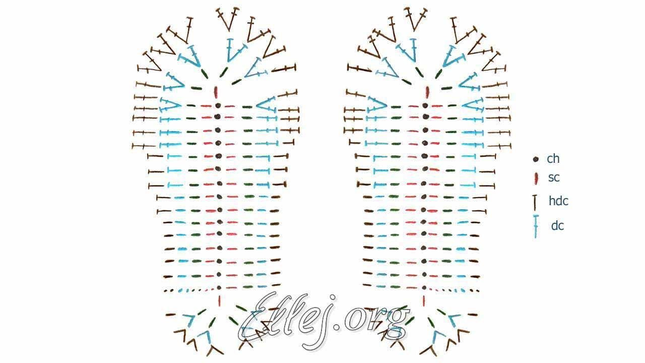 Вязание стелек крючком схема 95