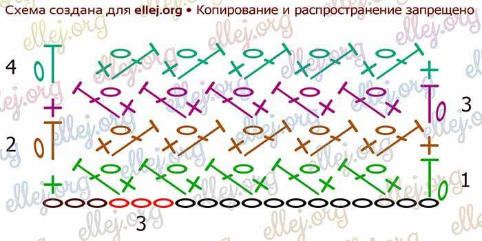 """Схема узора """"Плетень"""""""