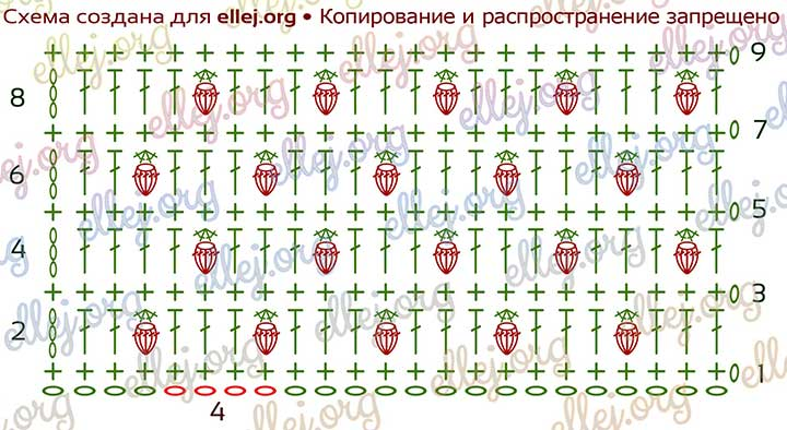 strawberry stitch graph