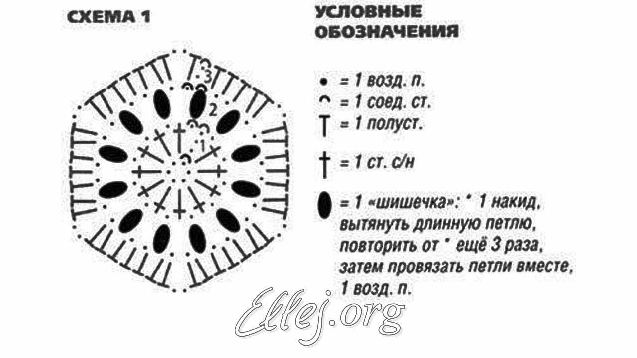 Шестиугольный мотив схема