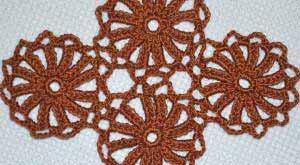 Безотрывное вязание, мотивы-колесики