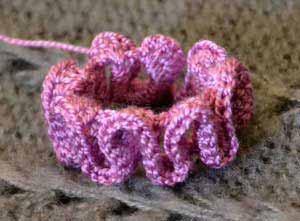 вязание рюшей