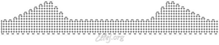 Схема вязания резинки для шапки:
