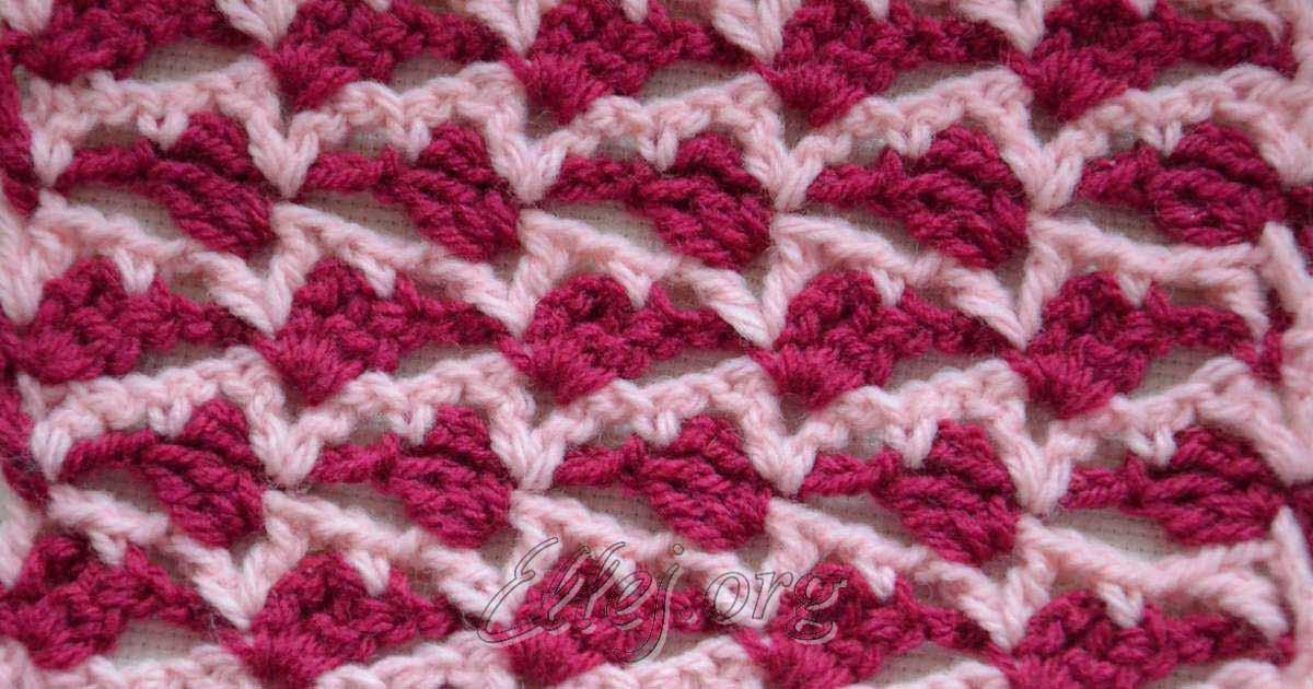 Вязание шарфика крючком видео