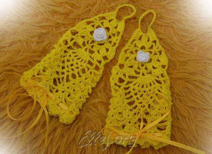 Желтые митенки