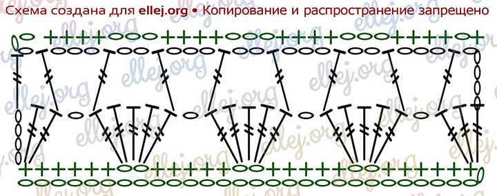 Схема вязания узора Корзинки