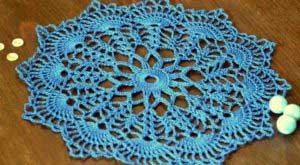 Синяя салфетка