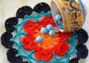 Разноцветная салфетка