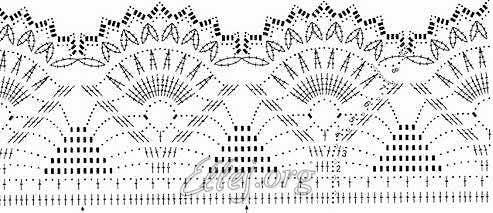 Схема каймы к платью Сакура