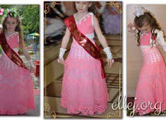 Выпускное платье крючком Сакура