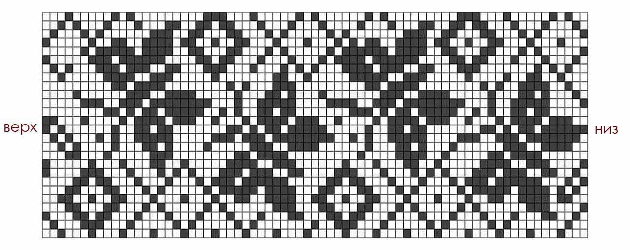 Схема филейного узора бабочки