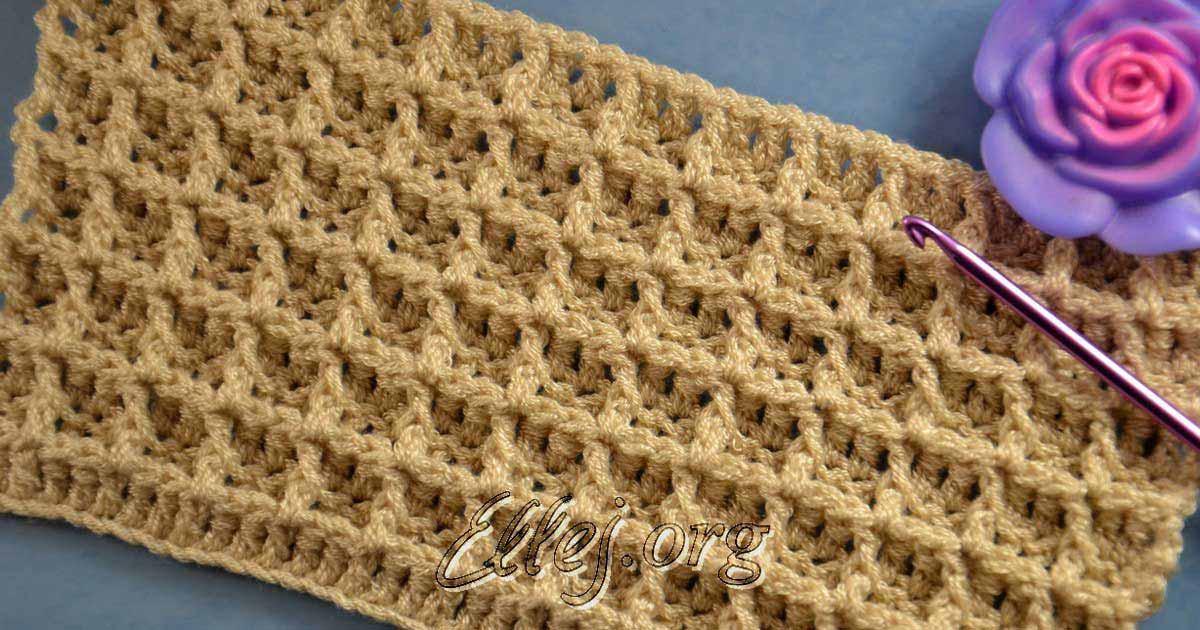 Вафельный узоры для вязания крючком