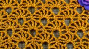 Ажурный узор Желтый коралл