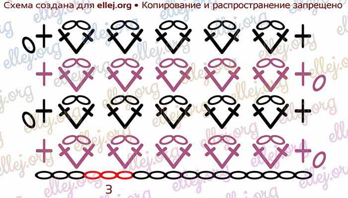 Схема узора Козинаки