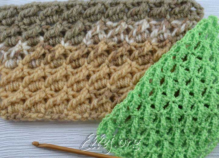 Diagonal treble crochet stitch