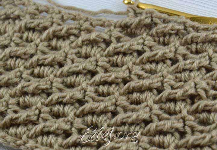 Diagonal treble crochet stitch