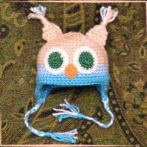 Шапочка-сова для куклы