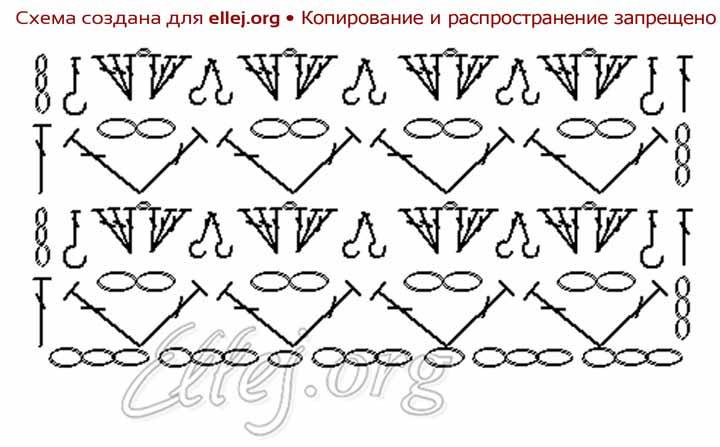 Платье зефирка крючком схема вязания