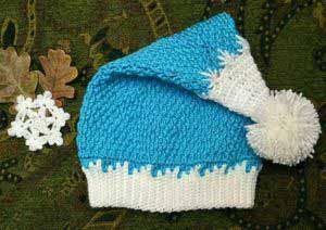Новогодняя шапка Снегурочки