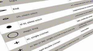 Таблица условных обозначений в вязании крючком