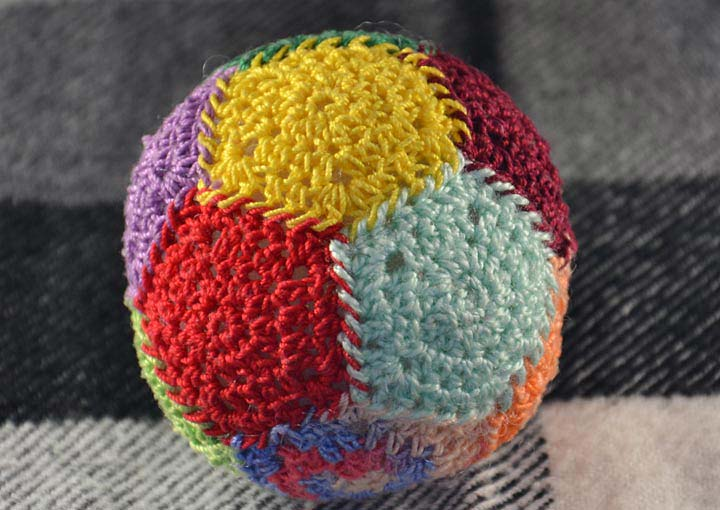 Crochet anti-stress ball
