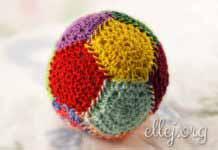 Мячик-антистресс из пятиугольных мотивов