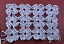 Clover stitch. Unseparated crochet.