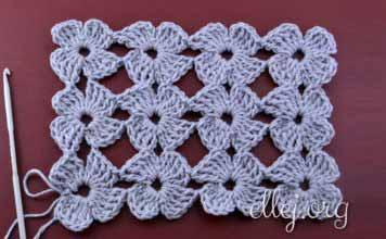 Clover stitch. Unseparated crochet.