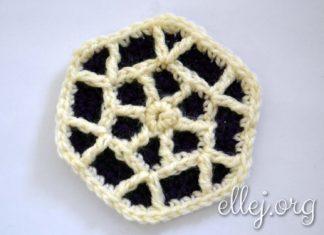 Шестиугольный мотив снежинка