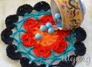 Colorful Doily Stand for cup