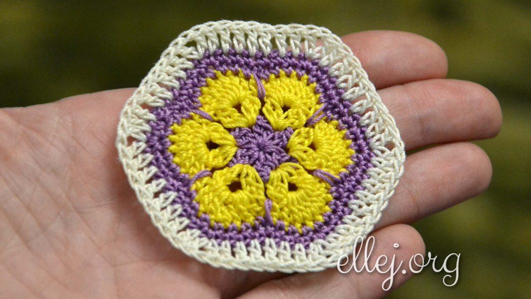 Шестигранный мотив Африканский цветок