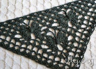 Moon Butterfly Crochet Shawl