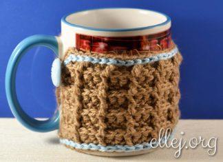 Вафельный шарфик для чашки