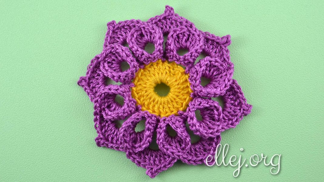 Crochet Curly Flower